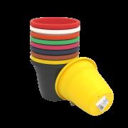 Vaso plástico - kit colorido - 10 x 13 cm - 15 unidades