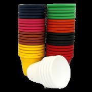Vaso plástico - kit colorido - 10 x 13 cm - 40 unidades