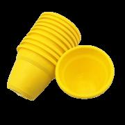 Vaso plastico - vicenza - amarelo - 10 x 13 cm - kit 10 unid