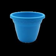 Vaso plástico - vicenza - azul - 08 x 10 cm