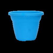 Vaso plástico - vicenza - azul - 10 x 13 cm