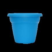 Vaso plastico - vicenza - azul - 16 x 19 cm - kit 03 unid