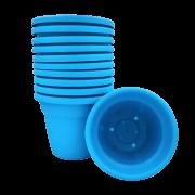 Vaso plastico - vicenza - azul - 16 x 19 cm - kit 12 unid