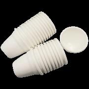Vaso plastico - vicenza - branco - 10 x 13 cm - kit 24 unid