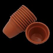Vaso plástico  - vicenza - ceramica - 08 x 10 cm - Kit 24 unid