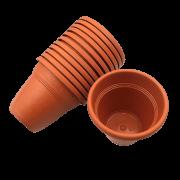 Vaso plástico - vicenza - ceramica - 10 x 13 cm - Kit 10 unid