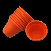 Vaso plastico - vicenza - laranja - 10 x 13 cm - kit 10 unid