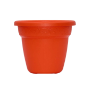 Vaso plastico - vicenza - laranja - 16 x 19 cm - kit 03 unid