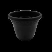Vaso plástico - vicenza - preto - 08 x 10 cm - Kit 51 unid