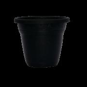 Vaso plástico - vicenza - preto - 10 x 13 cm