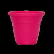 Vaso plástico - vicenza - rosa - 10 x 13 cm