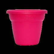 Vaso plastico - vicenza - rosa - 16 x 19 cm