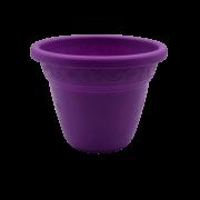 Vaso plástico - vicenza - roxo - 08 x 10 cm