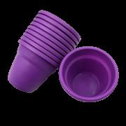 Vaso plástico - vicenza - roxo - 08 x 10 cm - kit 10 unid