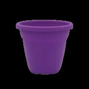 Vaso plástico - vicenza - roxo - 10 x 13 cm