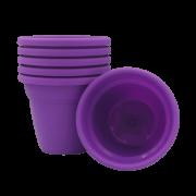 Vaso plastico - vicenza - roxo - 10 x 13 cm - kit 06 unid