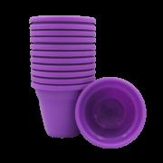 Vaso plastico - vicenza - roxo - 10 x 13 cm - kit 12 unid