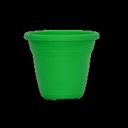 Vaso plástico - vicenza - verde - 10 x 13 cm