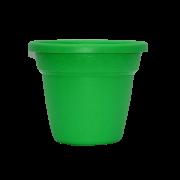 Vaso plastico - vicenza - verde - 16 x 19 cm - kit 03 unid