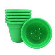 Vaso plastico - vicenza - verde - 16 x 19 cm - kit 06 unid