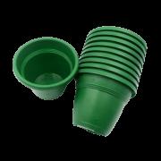 Vaso plástico - vicenza - verde escuro - 08 x 10 cm - kit 10 unid
