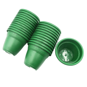 Vaso plástico - vicenza - verde escuro - 08 x 10 cm - kit 24 unid