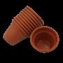 Vaso plástico  - vicenza - ceramica - 08 x 10 cm - Kit 10 unid