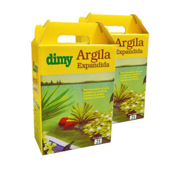 Argila Expandida - Dimy - kit 2 caixas 2 litros