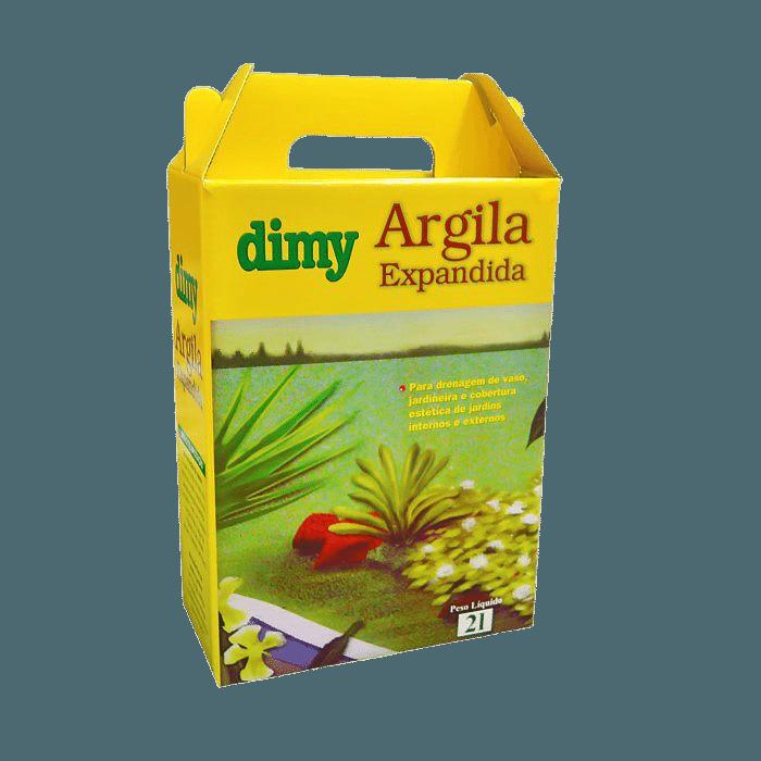 Argila Expandida - Dimy - kit 3 caixas 2 litros