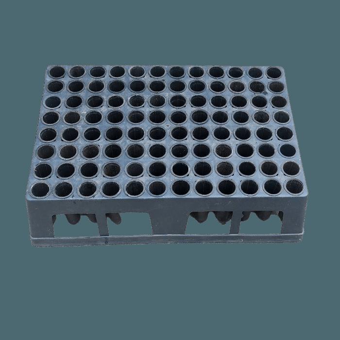 Bandeja Caixa 96 Células com Tubetes 100 cm³ - USADOS