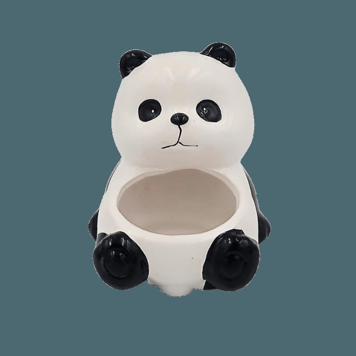 Cachepo de ceramica - 2 ursos pandas