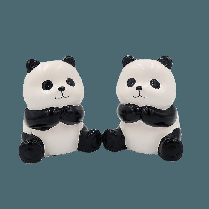 Cachepo de ceramica - 2 ursos pandas - Modelo 2