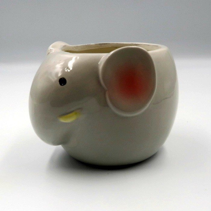 Cachepo de ceramica - modelo elefantinho