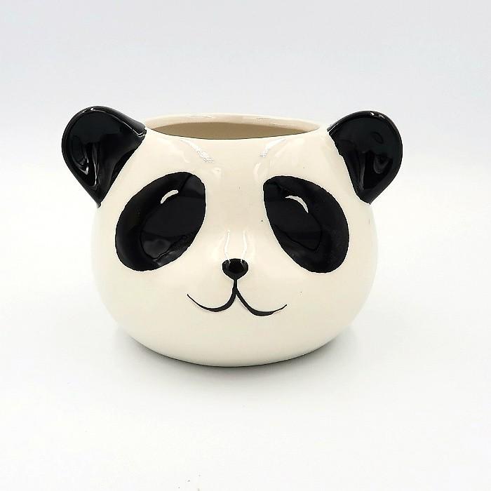 Cachepo de ceramica - modelo urso panda