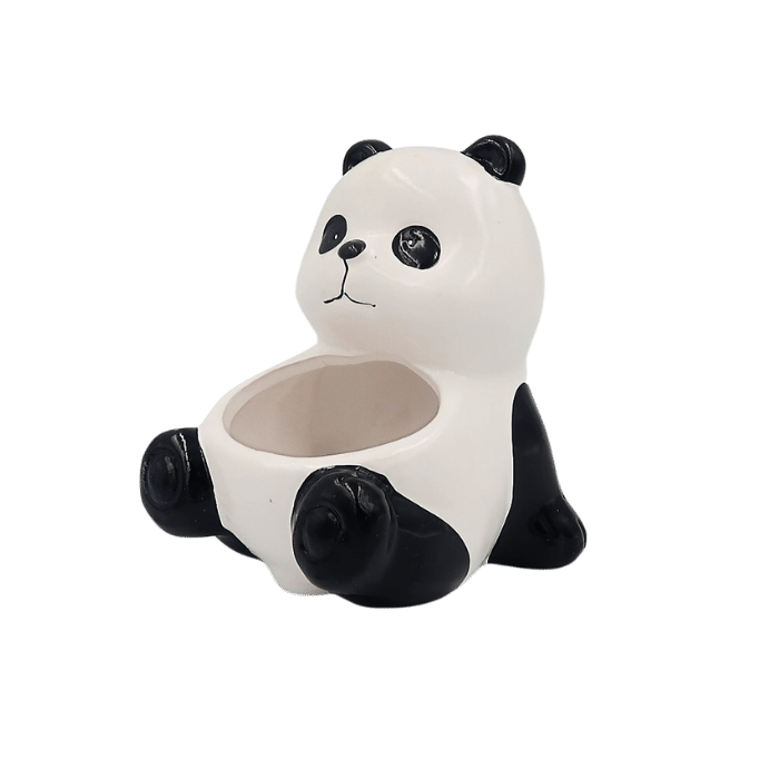 Cachepo de ceramica - urso panda - modelo 1