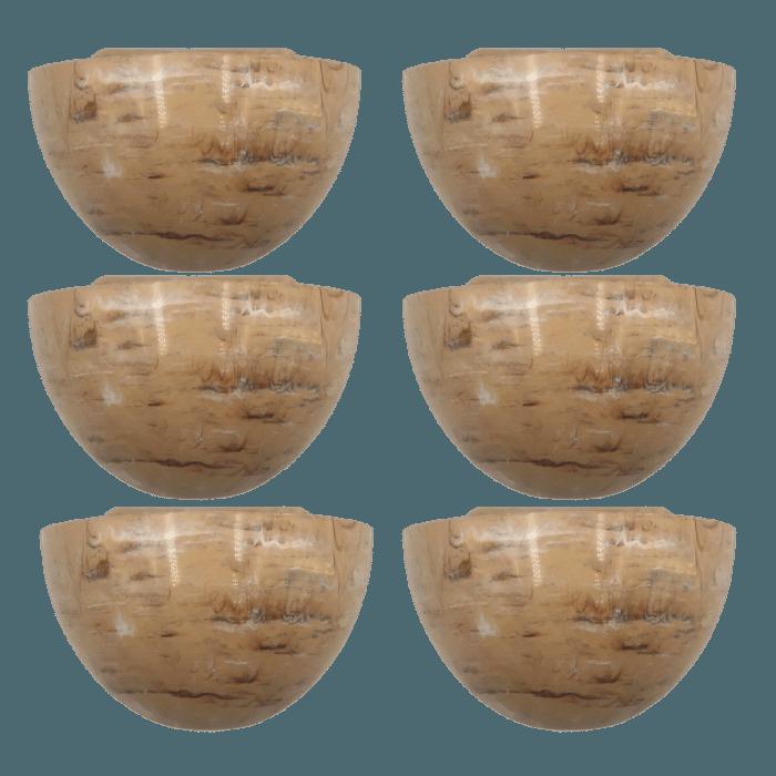 Cachepo elegance parede 14 x 21 x 11 cm - travertino - kit 06 unid