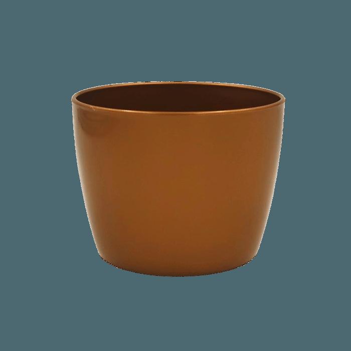 Cachepo elegance redondo 09x11 cm - dourado