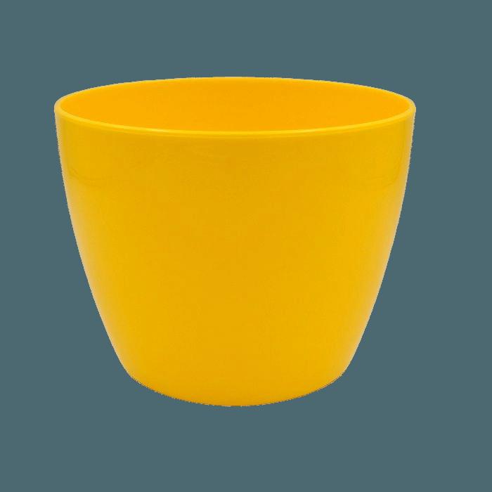 Cachepo elegance redondo 12x14 cm - amarelo