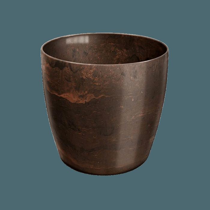 Cachepo elegance redondo 12x14 cm - café imperial