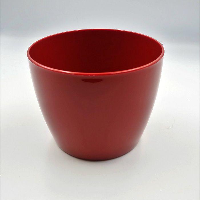 Cachepo elegance redondo 12x14 cm - vinho - kit 03 un