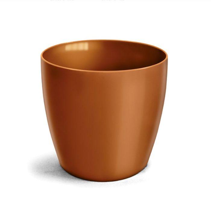 Cachepo elegance redondo 14x12 cm - dourado - kit 03 un + brinde