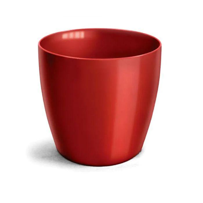 Cachepo elegance redondo 14x12 cm - vinho - kit 03 un + brinde