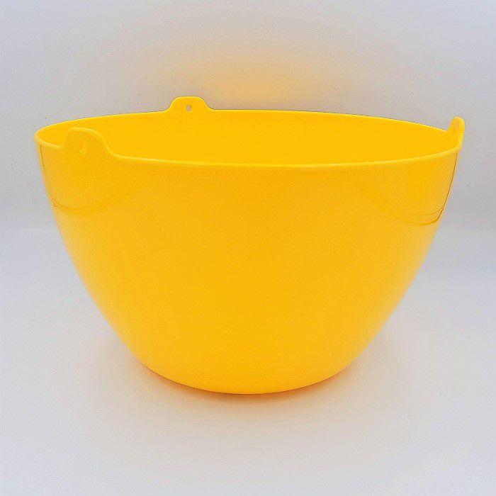 Cachepo elegance redondo 15x24 cm - amarelo