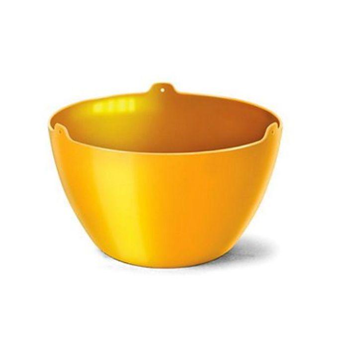 Cachepo elegance redondo 15x24 cm - amarelo - kit 03 un + brinde