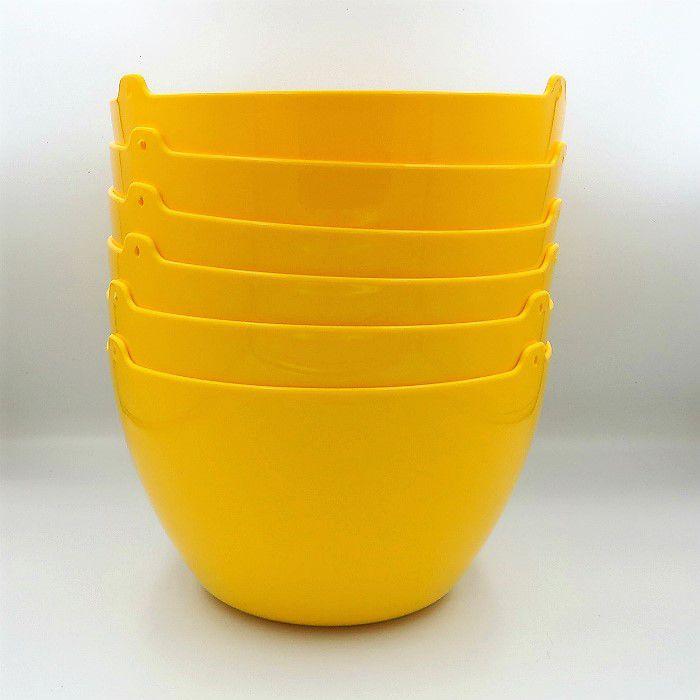 Cachepo elegance redondo 15x24 cm - amarelo - kit 06 un