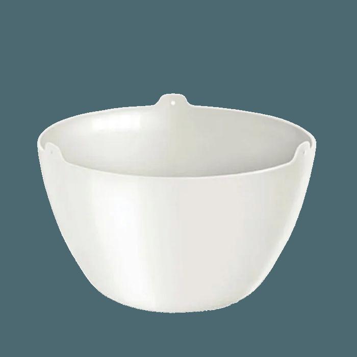 Cachepo elegance redondo 15x24 cm - branco - kit 03 un