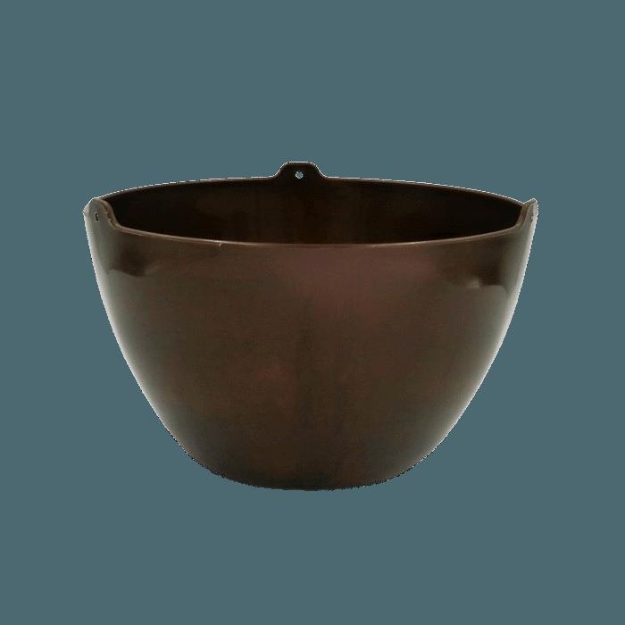 Cachepo elegance redondo 15x24 cm - cafe imperial - kit 03 un
