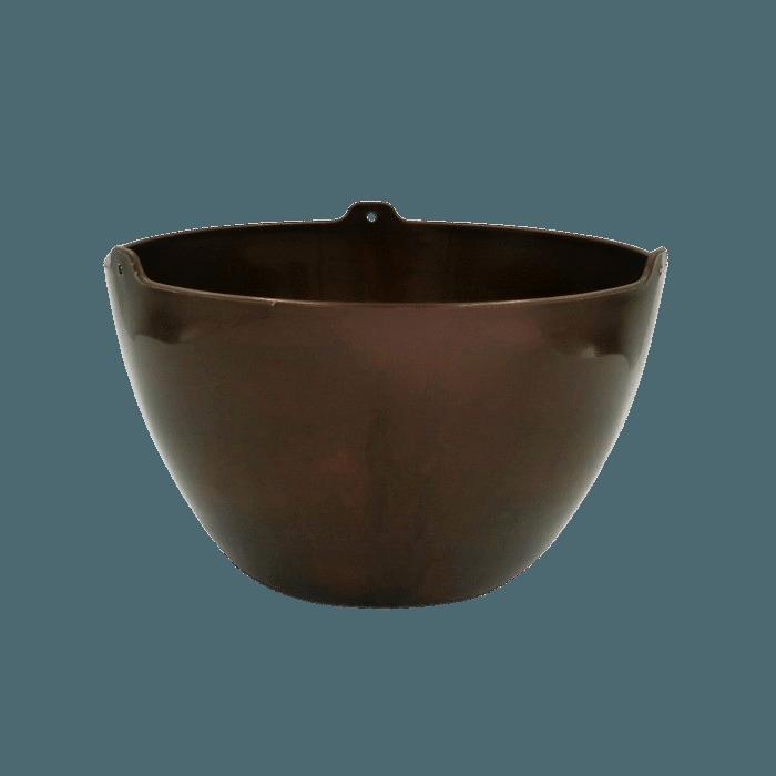 Cachepo elegance redondo 15x24 cm - cafe imperial - kit 06 un