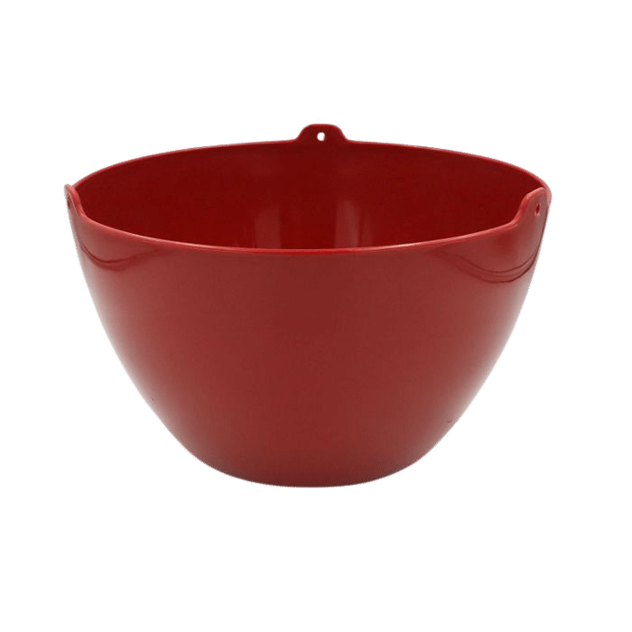 Cachepo elegance redondo 15x24 cm - vinho - kit 03 un