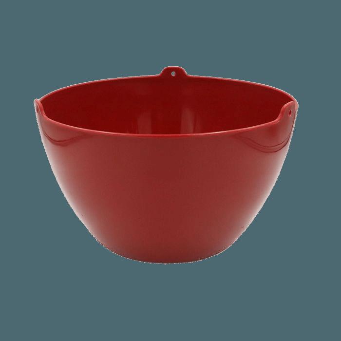 Cachepo elegance redondo 15x24 cm - vinho - kit 06 un